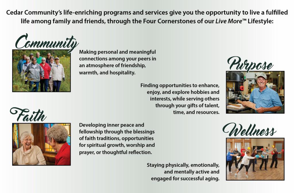 Live More at Cedar Community, senior living in West Bend, WI